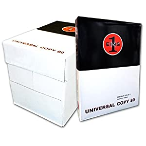 2500 Blatt Marken Kopierpapier Versando 80 DIN A4 von versando® Druckerpapier Papier Fax weiß Laserpapier Seiten Universalpapier
