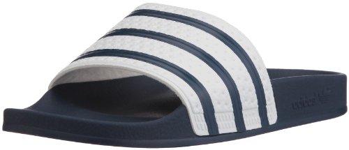 adidas Adilette Scarpe da Spiaggia e Piscina Unisex - Adulto, Blu (Adiblue/White/Adiblue), 44.5 EU