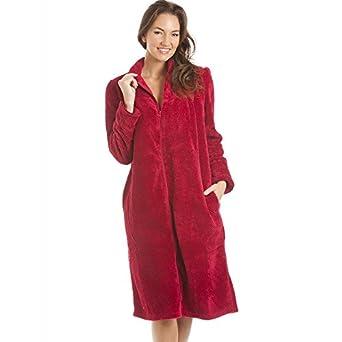 Robe de chambre douce en polaire fermeture clair - Robe de chambre fermeture eclair femme ...