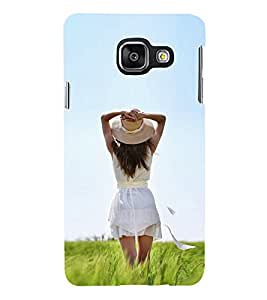 iFasho Girl waiting Back Case Cover for Samsung Galaxy A3 A310 (2016 Edition)