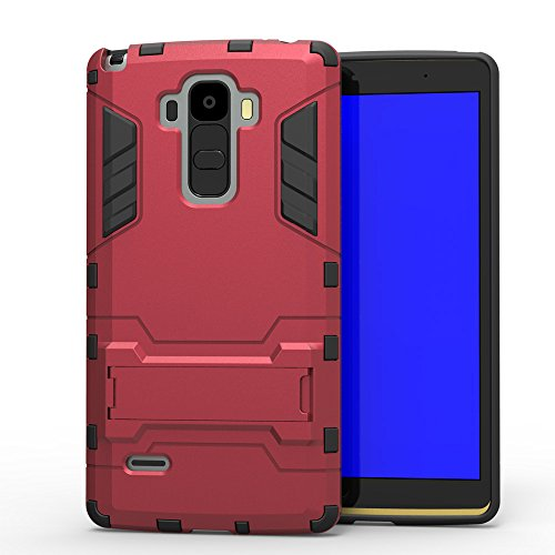 Cafeleo LG G Stylo Case LG Stylus Premium Ultra Slim Dual LayerArmor Series Rugged Heavy Duty Impact Dual Layer Kick Stand Defender Drop Protection Shock-Absorption Shockproof Protective Bumper (Red)
