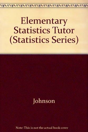 Elementary Statistics Tutor (Statistics Series)