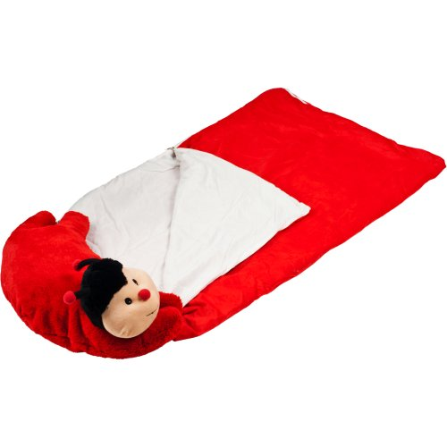 More image Happy Camper Kids Lady Bug Pet Pillow Sleeping Bag Combo