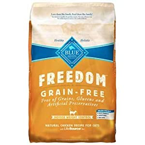 Blue Buffalo Freedom Grain Free Weight Control for Indoor Cat - Chicken - 11lb