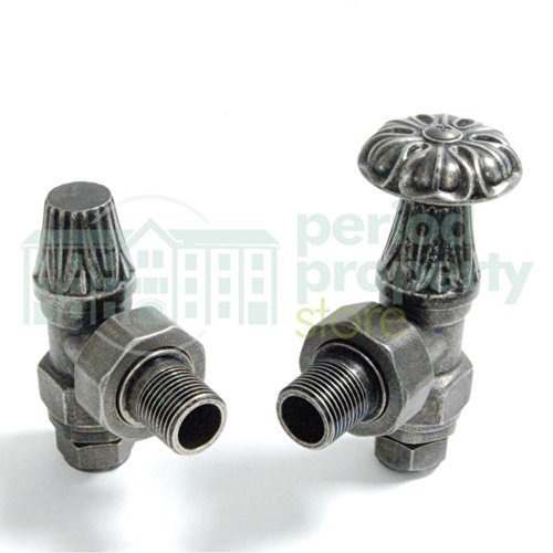 Abbey Traditional Manual Tap Radiator Valve Set For Cast Iron Radiators Pewter by Period Property Store (Cast Iron Radiator Valve compare prices)