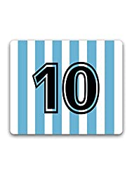 Madanyu - Jersey No. 10 - Argentina - For Messi Fans - Mousepad - For Gamers - HD Print