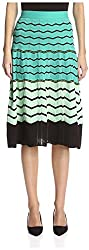 M Missoni Women's Flared Midi Skirt, Tartan, 40 IT/6 US