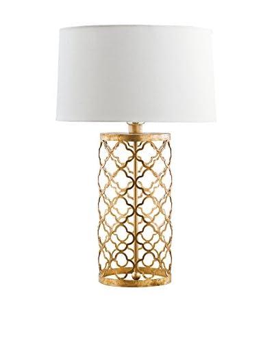 Home Philosophy Mosaic 1-Light Drum Lamp, Gold Leaf