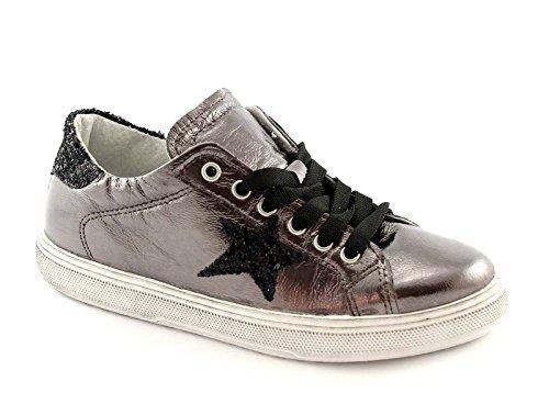 DIVINE FOLLIE 21 GEORGE metal scarpe donna sportive sneakers lacci pelle 41