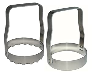 Rada Cutlery Food Chopper, Aluminum, Made in USA (Plain and Serrated COMBO PACK - R115SP) by Kwik-kut