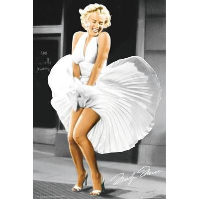Marilyn Monroe Sever Year Itch White Dress Color Movie Poster