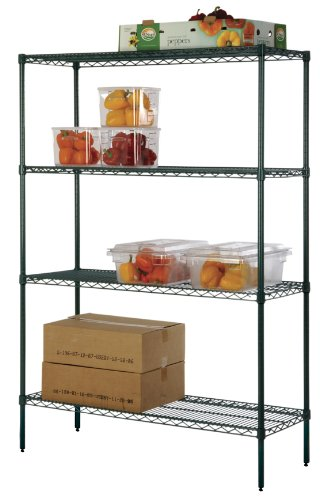 omega precision freezer wire shelving unit w antimicrobial protection qty 4 24 deep x 72. Black Bedroom Furniture Sets. Home Design Ideas