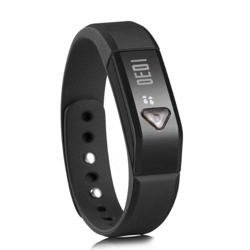 Smart Wristband Bracelet - Sports & Sleep Tracking, Automatically Syncs W/ Many Devices, Bluetooth 4.0, 3D Sensor, Waterproof