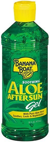 Banana Boat Aloe Vera Sun Burn Relief Gel, 16-Ounce Bottles (Pack of 3)