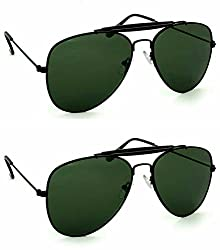 Redix New 2 in 1 combo TraditionaL Golden Black Sunglasses (BL02-BL02)