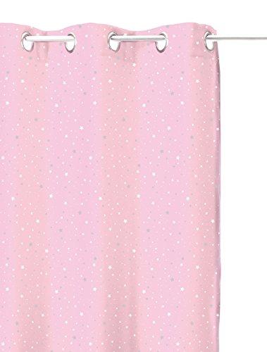 atmosphera rideau occultant rose clair toil pour chambre enfant with rideau occultant chambre bb