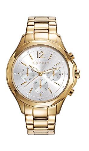 Reloj Cuarzo ESPRIT Para Mujer Con  Plata Analogico Y Oro Chapado en acero inoxidable ES109242002