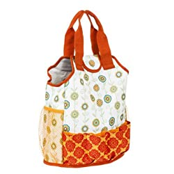 Molly Green Floral Medallion Gardening Tote