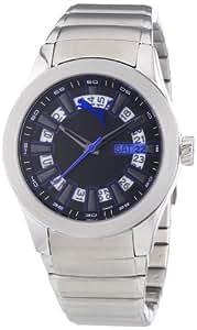 Puma Time Damen-Armbanduhr Fan Metal Silver Black Analog Quarz Edelstahl PU102402005