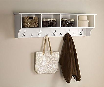 Floating white shelf images - Perchero para sombreros ...