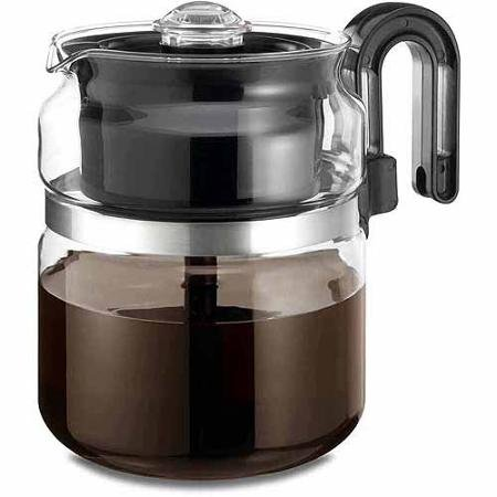 One All 8-Cup Stovetop Glass Percolator