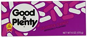 Good & Plenty Licorice Candy, 6-Ounce Boxes (Pack of 12)