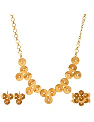 Gehna Mart Gold Plated With Pearl Finish Necklace For Women