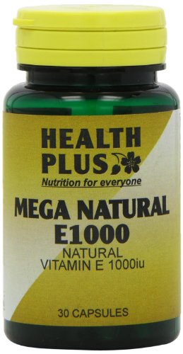 Health Plus Mega Natural E 1000 Vitamin E Supplement - 30 Capsules