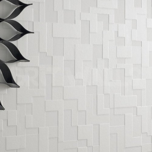 3d block 39 white brick effect wallpaper by wallpaper heaven for 3d effect wallpaper uk
