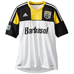MLS Columbus Crew Mens Spring Short Sleeve Road Replica Jersey by adidas