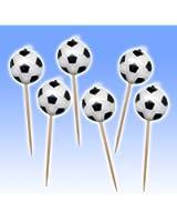 6 bougies ballon avec piques Football Soccer