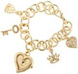 XOXO Womens XO7032 Gold Mirror Dial Gold-tone Charm Watch
