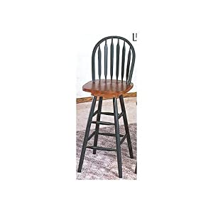 Amazon Com Arrowback Windsor Bar Stool With Swivel Seat