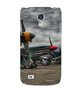 PrintVisa Fighter Plane Pattern 3D Hard Polycarbonate Designer Back Case Cover for Samsung Galaxy S4