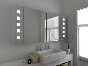 Modern Mirror Design Illuminated Bathroom Mirror Cabinet With Sensor And Shav