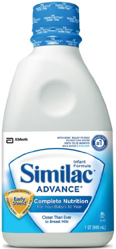 Similac Advance Early Shield Baby Formula, Ready to Feed, 32-Fluid Ounces (Pack of 6)