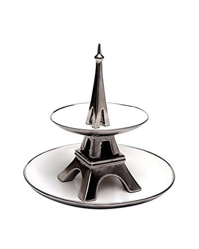 Alexandra House Fontana Decorativa Eiffel BLANCO Y PLATA
