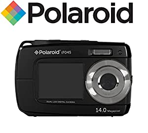 Polaroid IF045-BLACK-SOL 14MP Dual Screen Waterproof Digital Camera with 2.7-Inch LCD (Black)