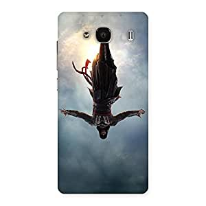 Ajay Enterprises Falling Back Man Back Case Cover for Redmi 2