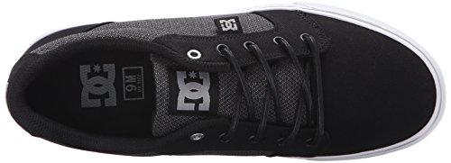 DC Men's Anvil TX SE Skate Shoe, Black/Grey/Grey, 13 M US