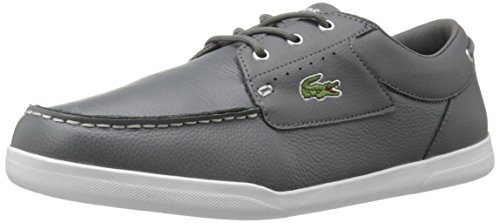Lacoste Men's Codecasa 316 1 Spm Boat Shoe, Grey, 9.5 M US