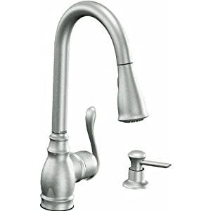 Moen Inc Ca87003csl Anabelle Single Handle Kitchen Faucets Stainless Finish Kitchen Sink