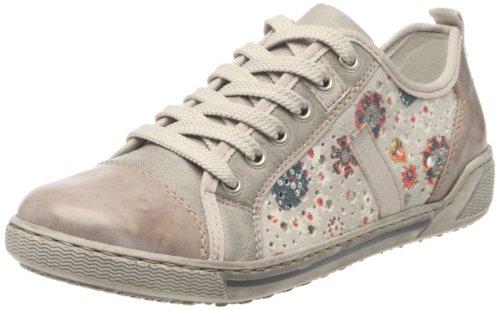 Rieker Judith 42425, Scarpe sportive donna, Grigio (Gris/multicolore (Whiteclay/ginger/grey/multicolore)), 42
