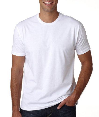 Next Level Men'S Premium Fitted Short-Sleeve Crew, White, Medium front-679243