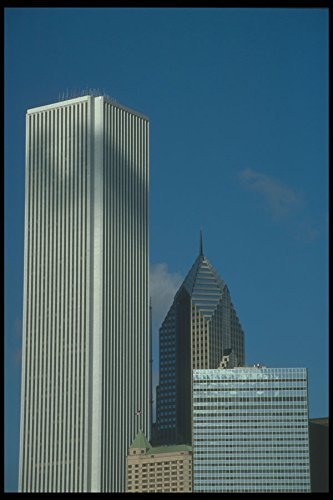 212055-amoco-building-and-prudential-plaza-a4-photo-poster-print-10x8