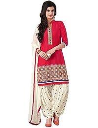 Jay Varudi Creation Women's Multi-Coloured American Crape Unstiched Printed Dress Material ( Salwar+Bottam+Duptta ) - B071YHK4NP
