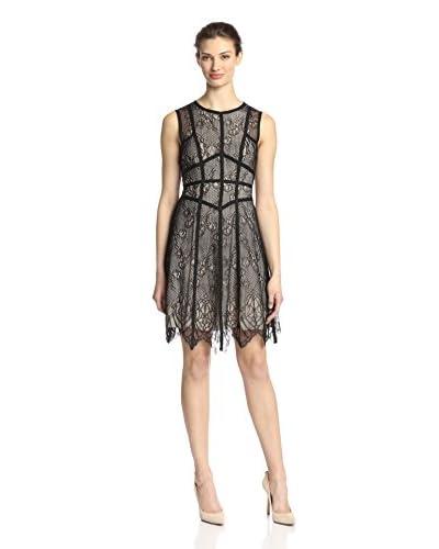 A.B.S. by Allen Schwartz Women's Lace Dress with Grosgrain Detail