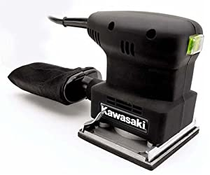 Kawasaki 840014 Black 1/4 Sheet  1.3 Amp Palm Sander with Dust Bag