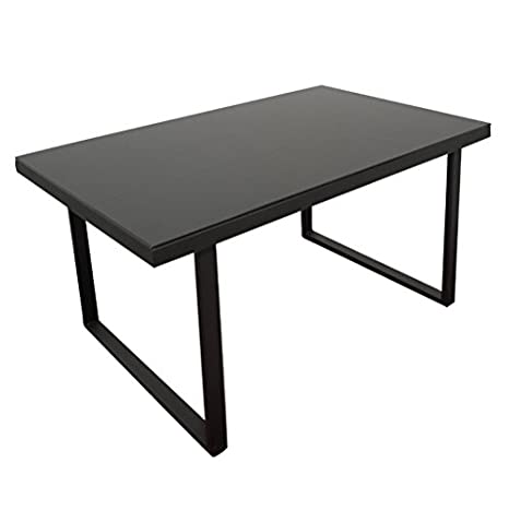 RR fixed RR Modern Design Table kitchen and lounge Glass black