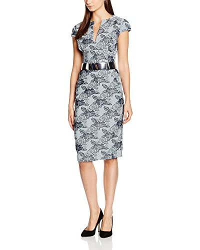 MAIOCCI Kleid grau/schwarz